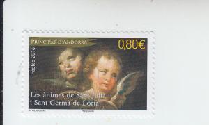 2016 Fr Andorra Sant Julia Sant Germa de Loria Church (Scott 768) MNH