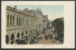 SINGAPORE c1910 postcard RAFFLES SQUARE unused.............................46839