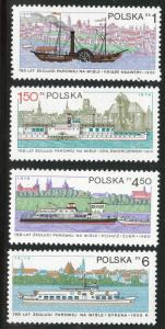 Poland Scott 2341-2344 MNH** 1979 River Boat  set