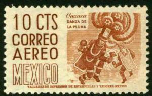 MEXICO C219a, 10cents 1950 Definitive 2nd Printing wmk 300 MINT, NH. VF.