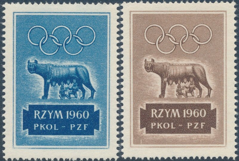 Stamp Label Italy Exposition 1960 Cinderella Rome Olympics Remus Romulus MNH