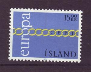 J19204 Jlstamps 1971 iceland mnh #430 europa