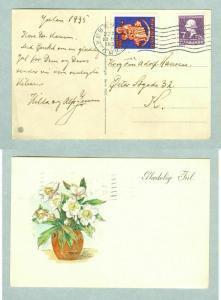 Denmark. Christmas Card 1935, Seal, + 7  Ore H.C Andersen. Adr: Copenhagen