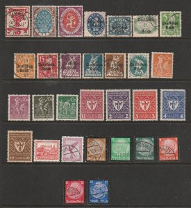Germany a small M&U lot 1920-30's