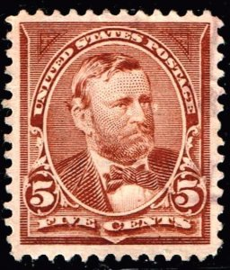 US STAMP 255 1894 5¢ Grant USED STAMP SUPERB