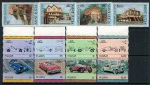 St. Lucia #645-8, 653-6* NH  CV $4.85