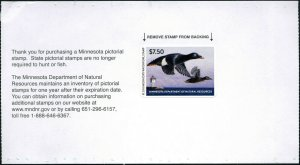 MINNESOTA #42 2018 STATE DUCK STAMP WHITEWINGED SCOTER/LIGHTHOUSE by Mark Thone