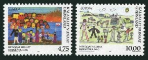 Greenland 336-337,MNH.Michel 323-324. EUROPE CEPT-1998.Child drawings.