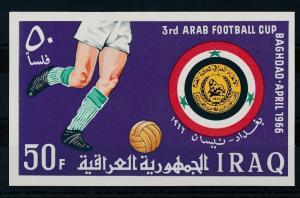 [20574] Iraq 1966 Arab Soccer Cup Souvenir Sheet MNH