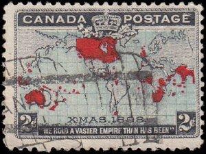 Scott Canada 86 Christmas Map of British Empire Used