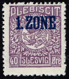 GERMANY STAMP PLEBISCIT 1.ZONE OVERPRINT SLESVIG  40øre MH/OG TYPE 9 IX  $89