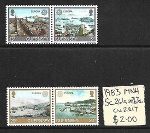 Guernsey MNH 261a, 263a Europa 1983