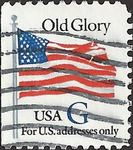 # 2884 USED G STAMP OLD GLORY