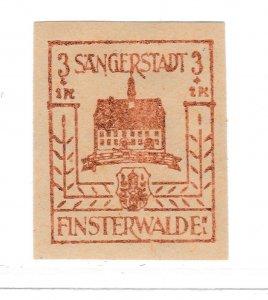 Finsterwalde WWII Germany World War II Local Stamp 1946 3+2pf MNH** A20P4F168