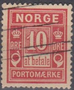Norway #J3 F-VF Used (B6776)