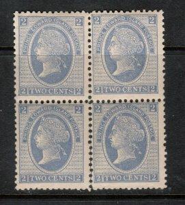 Prince Edward Island #12 Mint Fine - Very Fine Never Hinged Block - Separating