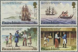 Pitcairn Islands 1983 SG238-241 Folger's Discovery of Settlers set MNH
