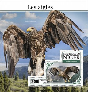 NIGER - 2021 - Eagles - Perf Souv Sheet -Mint Never Hinged