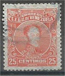 VENEZUELA, 1928, used 25c, Simon Bolıvar Scott 277