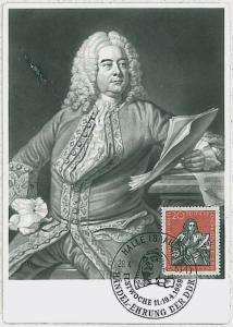 MAXIMUM CARD - Music : GERMANY DDR 1959  - Handel