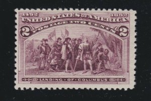 US 231 2c Columbian Exposition Mint F-VF OG NH SCV $31