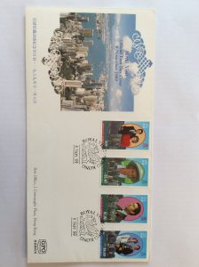 Royal Visit 1989 FDC not addressed.