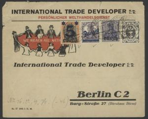 Danzig 19, 37, 4 & 66 on 1927 Intl Trade Developer illus adv cover w/Zoppot pmks