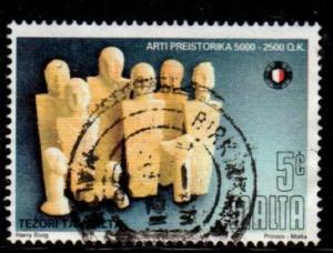 Malta - #882 Prehistoric Art - Used