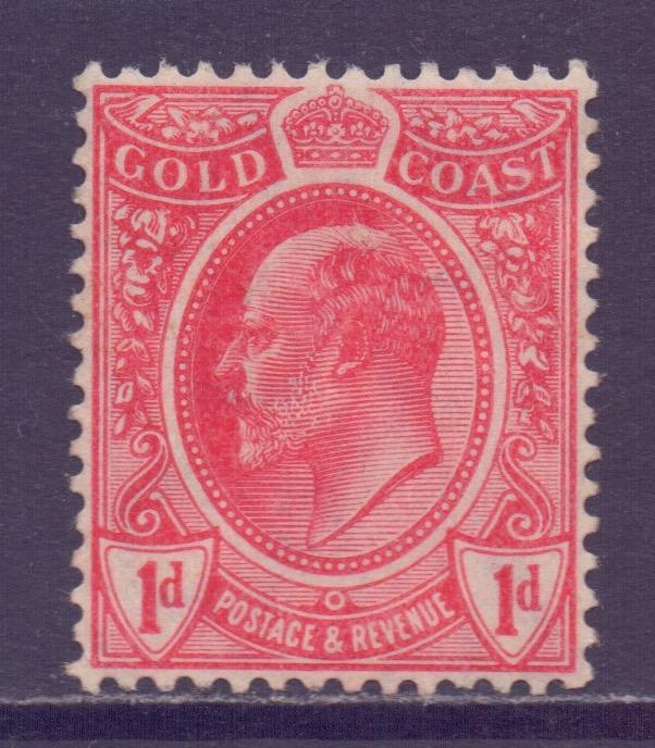 Gold Coast Scott 66 - SG69, 1908 Edward VII 1d unused no gum