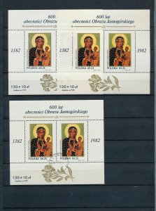 POLAND 1981/82 Art Religion Flowers Blocks MNH Used (Appx 100 ) (As 286