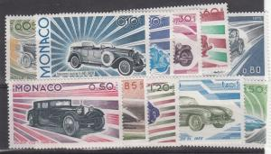 Monaco  1975   Set of 11 Mint