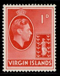 BRITISH VIRGIN ISLANDS GVI SG111a, 1d scarlet, M MINT.