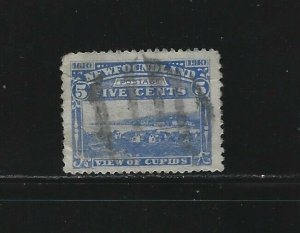 NEWFOUNDLAND - #91 - 5c VIEW OF CUPIDS USED STAMP