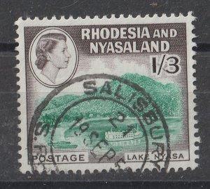 Rhodesia & Nyasaland 1959 QEII Portrait & Various Designs 1.30sh (1/15) USED