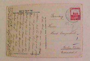 PALESTINE  JERUSALEM 1937 TO GERMANY