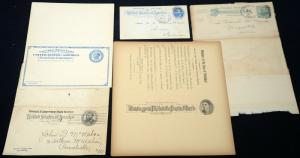 5 Early USA Postcard Post Cards Cover Collection Mint Used