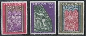 Andorra - French Issues 199-201 MNH (1970)
