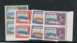Trinidad & Tobago #43 - #46 Very Fine Never Hinged Set In Pairs
