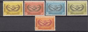 J27305 1965 saudi arabia set mnh #354-8 ICY emblem