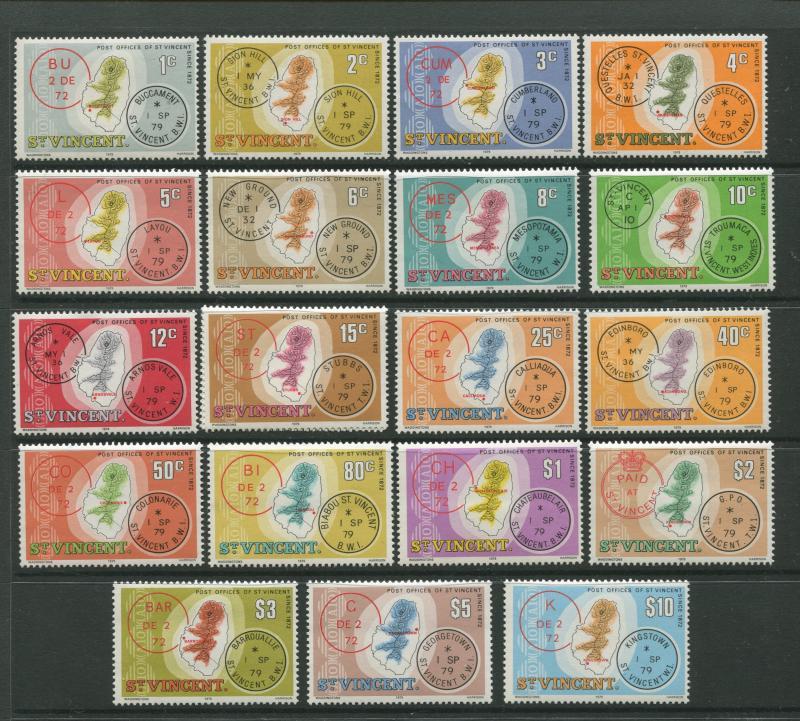 STAMP STATION PERTH St Vincent #548-576 Definitive Issue 1979 MNH CV$9.00