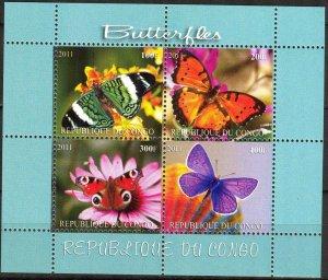 Congo 2011 Butterflies (3) MNH Cinderella !