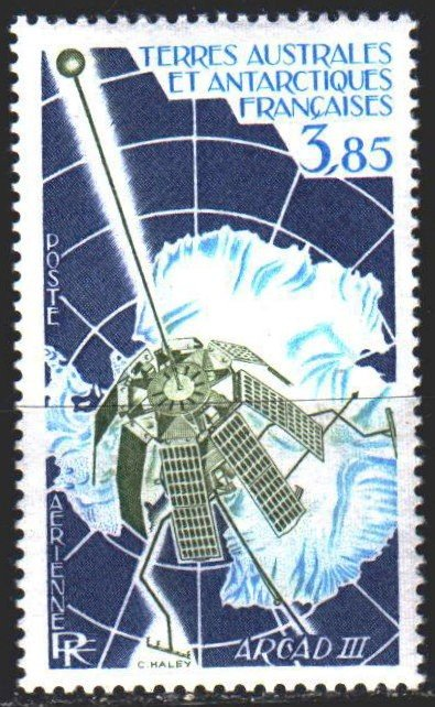 French Southern and Antarctic Territories. 1981. 164. Space, antarctica. MNH.