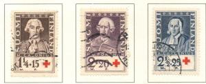 Finland Sc B18-20 1935 Red Cross stamp set used