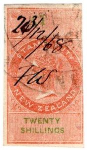 (I.B) New Zealand Revenue : Stamp Duty £1 (reversed watermark)