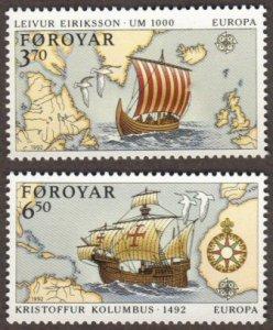 Faroe Islands #236-37 MNH ships