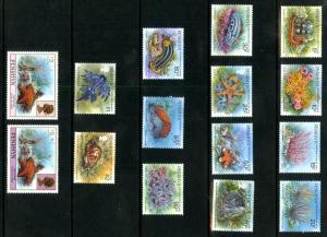Penrhyn Island 420-434 MNH SCV $25.00