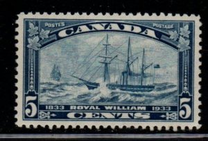 Canada Sc 204 1933 5c Royal William steamship stamp mint NH