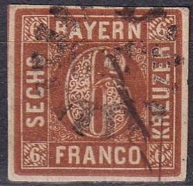 Bavaria #5  F-VF Used CV $6.50 (A18316)