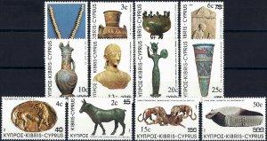 1983 Zypern Freimarken, Kunstwerke und Archeologie, MiNr. 587-598** KAT 15€