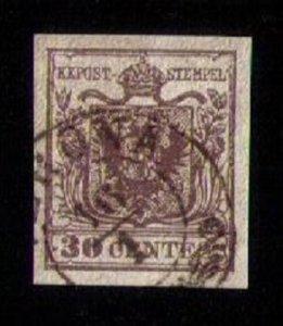 Lombardy Venetia Sc #5  Used Gem VF/XF (1850):